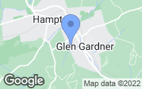 Map of Glen Gardner, NJ